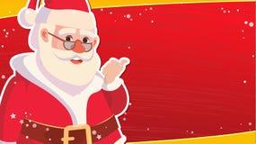Шаблон знамени продажи рождества с классическим вектором Xmas Санта Клауса Знамя продажи специального предложения скидки Стоковое Изображение