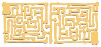 Шаблон игры головоломки с коричневым путем Стоковая Фотография RF