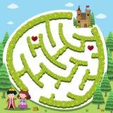 Шаблон игры головоломки с принцем и принцессой Стоковые Фотографии RF