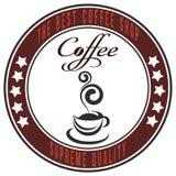 Шаблон иллюстрации кофейни Творческий ретро чертеж искусства  Стоковое Фото