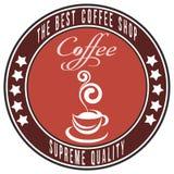 Шаблон иллюстрации кофейни Творческий ретро чертеж искусства  Стоковая Фотография RF