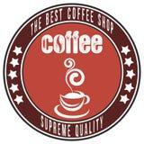 Шаблон иллюстрации кофейни Творческий ретро чертеж искусства  Стоковое Изображение