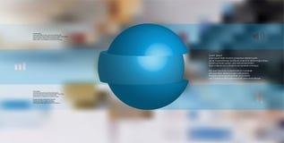 шаблон иллюстрации 3D infographic при шарик отрезанный до 3 части и штабелированный с перенесенными элементами Стоковое Изображение RF