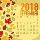 Шаблон календарных месяцев падения осени Стоковое Фото