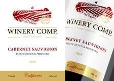 Шаблон классики ярлыка вина стоковые фотографии rf