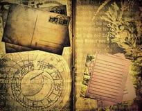шаблон книги старый Стоковое Изображение RF
