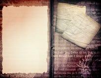 шаблон книги старый Стоковая Фотография