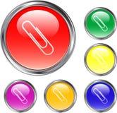 шаблон кнопки ясный Стоковое Изображение RF