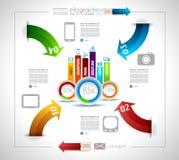 Шаблон конструкции Infographic с бумажными бирками Стоковое Изображение