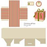 Шаблон коробки подарка. Стоковые Изображения