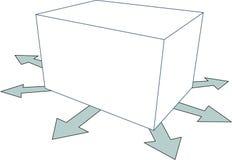 шаблон коробки Стоковые Фотографии RF