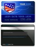 шаблон кредита карточки Стоковая Фотография
