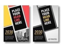Шаблон крышки для книг, кассета, брошюры, корпоративные представления Стоковые Фотографии RF