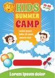 Шаблон лагеря ребенк лета бесплатная иллюстрация