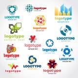 шаблон логоса Стоковое Изображение
