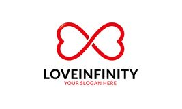 Шаблон логотипа безграничности влюбленности Стоковые Фотографии RF