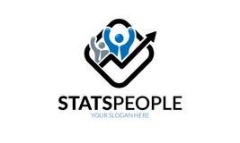 Шаблон логотипа людей Stats Стоковое фото RF
