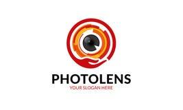 Шаблон логотипа объектива фото Стоковые Фотографии RF