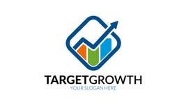 Шаблон логотипа роста цели Стоковые Фотографии RF