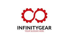 Шаблон логотипа шестерни безграничности Стоковые Изображения