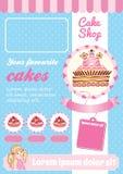Шаблон магазина торта и десерта бесплатная иллюстрация
