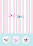 шаблон меню десерта Стоковое Изображение RF