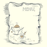 шаблон меню кофе Стоковые Изображения