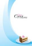 шаблон меню десерта Стоковые Фотографии RF