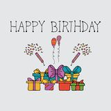 Шаблон наборов элемента события торжества дня рождения иллюстрация вектора