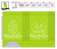 Шаблон пакета праздника пасхи для печати и отрезка стоковое изображение rf