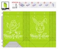 Шаблон пакета праздника пасхи для печати и отрезка стоковые фото