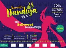 Шаблон печатной рекламы ночи dandiya Navratri бесплатная иллюстрация