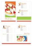шаблон пиццы меню Стоковое Изображение RF