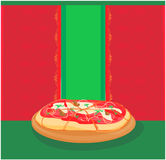 шаблон пиццы меню Стоковое фото RF