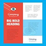 Шаблон плаката деловой компании глаза с местом для текста и изображений Предпосылка вектора бесплатная иллюстрация