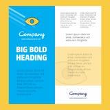 Шаблон плаката деловой компании глаза с местом для текста и изображений Предпосылка вектора иллюстрация вектора
