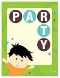 шаблон плаката партии рогульки 5x11 8 Стоковая Фотография RF