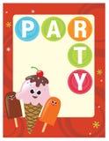 шаблон плаката партии рогульки 5x11 8 Стоковое фото RF