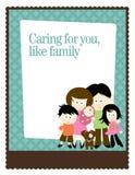 шаблон плаката рогульки семьи 5x11 8 Стоковые Изображения RF