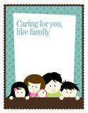 шаблон плаката рогульки семьи 5x11 8 Стоковые Изображения