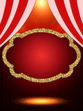 Шаблон плаката с ретро знаменем казино Дизайн для presentati Стоковые Изображения