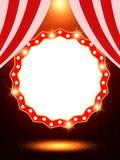 Шаблон плаката с ретро знаменем казино Дизайн для presentati Стоковое Изображение RF