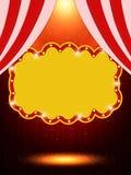 Шаблон плаката с ретро знаменем казино Дизайн для presentati Стоковые Фотографии RF