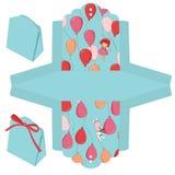 шаблон подарка коробки иллюстрация вектора