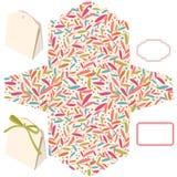 шаблон подарка коробки иллюстрация штока