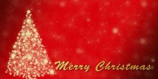 Шаблон поздравительной открытки праздника рождества с звездами Стоковое фото RF