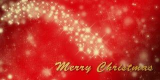 Шаблон поздравительной открытки праздника рождества с звездами Стоковые Изображения