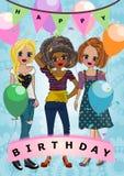 Шаблон поздравительой открытки ко дню рождения с днем рождений Стоковые Фото