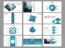 Шаблон представления элементов голубой квадратной пачки infographic годовой отчет дела, брошюра, листовка, рогулька рекламы, иллюстрация штока
