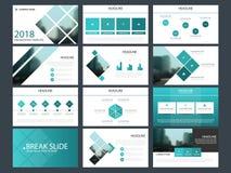 Шаблон представления элементов пачки infographic годовой отчет дела, брошюра, листовка, рогулька рекламы, иллюстрация вектора